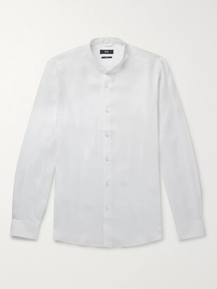 HUGO BOSS Jordi Slim-Fit Grandad-Collar Linen Shirt