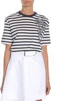 Carven Striped Cotton T-shirt