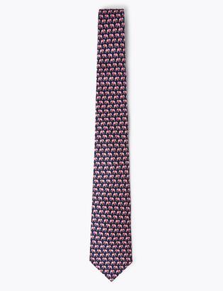 Marks and Spencer Elephant Print Silk Tie