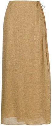 Oseree Lumiere shimmer wrap skirt