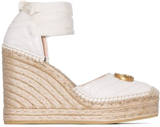 Gucci Pilar 120mm quilted leather espadrilles
