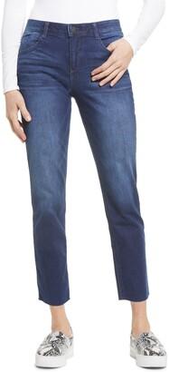 Wit & Wisdom Ab-Solution Raw Hem Ankle Girlfriend Jeans