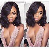"Helene Hair Fashion Bob Cut Wig 8A Brazilian Virgin Hair Human Hair Glueless Full Lace Wigs With Baby Hair 130% Density ( 8"")"