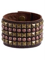 Leather Studded Cuff Bracelet