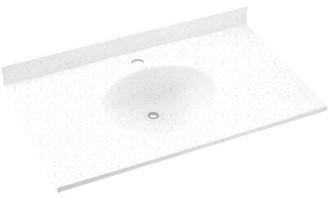 "Swan Ellipse Solid Surface 31"" Single Bathroom Vanity Top Top Finish: Arctic Granite"