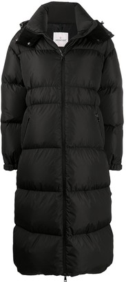 Moncler Long-Length Padded Down Jacket