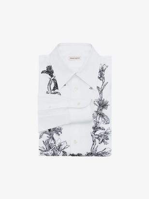 Alexander McQueen Floral Garland Embroidered Shirt