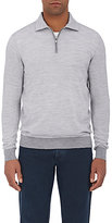 Fioroni Men's Wool-Cashmere Half-Zip Sweater