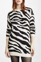 BB Dakota Zebra Print Sweater Dress