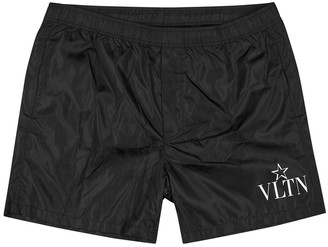 Valentino VLTNSTAR printed black swim shorts