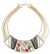 Alexis Bittar Crystal-Encrusted Mosaic Lace Bib Necklace