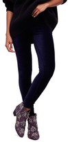 Free People Women's Here We Go High Waist Stripe Velvet Leggings