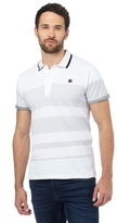 Voi Big And Tall White Spotted Polo Shirt