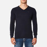 Barbour Essential Lambswool V Neck Knitted Jumper Navy