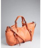 Kooba apricot leather zip pocket 'Chloe' convertible tote