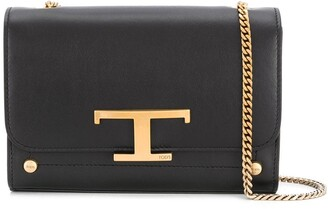 Tod's Logo Plaque Chain Strap Crossbody Bag