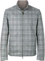 Canali checked zip jacket