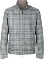 Canali checked zip jacket