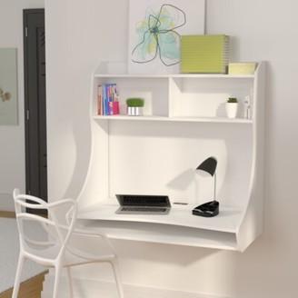 Ebern Designs Speicher Compact Hanging Floating Desk Ebern Designs Color: White
