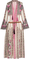 Etro Embroidered Silk-jacquard Maxi Dress - Pink