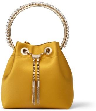 Jimmy Choo Embellished Satin Bon Bon Top-Handle Bag