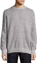 Brunello Cucinelli Men's Rib-Trimmed Graphic Sweatshirt