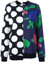 MSGM multi print sweatshirt - women - Cotton - XS