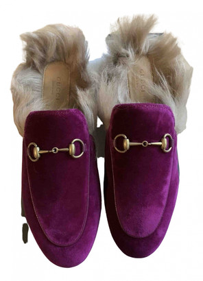Gucci Princetown Other Velvet Flats