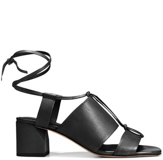 Vince Dunaway Ankle-Wrap Leather Sandals