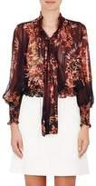 Warm Women's Autumn Floral Chiffon Blouse