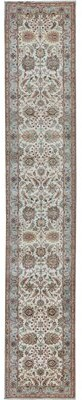 Blue Area Runner Oriental Hand-Knotted Wool Cream/Light Rug Bokara Rug Co., Inc.