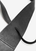 MANGO Leather Obi Belt