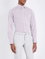 Thomas Pink Reesy check athletic-fit cotton-blend shirt