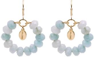 Salome Bridal Collection Tribal Aquamarine Earrings