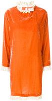 Blugirl frill-trim fitted dress