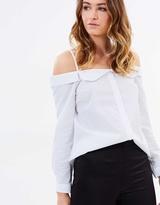 Miss Selfridge Cold Shoulder Bardot Shirt