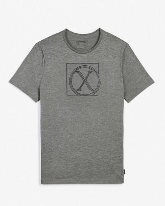 Express Gray Logo Sketch Graphic T-Shirt