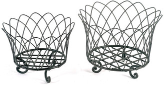Campo De' Fiori Wire Basket Fr With Feet Large