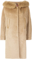Max Mara fur collar oversized coat