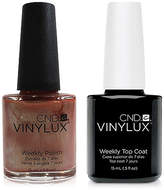 CND Creative Nail Design Vinylux Sienna Scribble Nail Polish & Top Coat (Two Items), 0.5-oz, from Purebeauty Salon & Spa