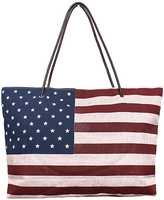 Red & Blue American Flag Tote