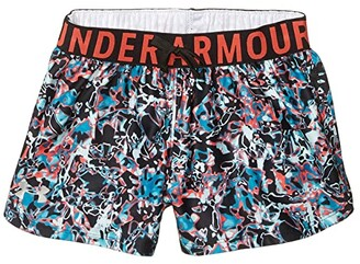 Under Armour Kids Play Up Printed Shorts (Big Kids) (Black/Metallic Silver) Girl's Shorts