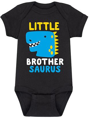 Instant Message Boys' Infant Bodysuits BLACK - Black 'Little Brothersaurus' Bodysuit - Newborn & Infant