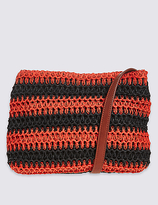 M&S Collection Striped Across Body Bag
