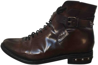 Opening Ceremony Brown Leather Ankle boots