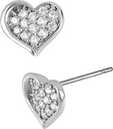 Betsey Johnson Precious Luxuries Pave Heart Earring