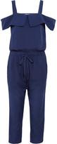 Clu Cutout Silk And Cotton-blend Jumpsuit