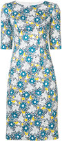 Carolina Herrera floral dress - women - Cotton/Spandex/Elastane - 4