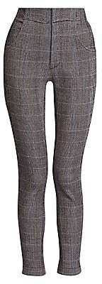 Chloé Women's Stretch Wool Check Cropped Pants
