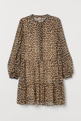 H&M H&M+ Chiffon Dress - Beige